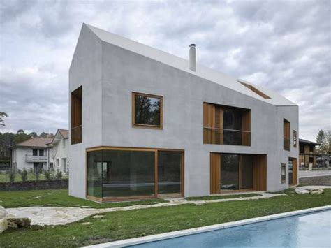 One Hause Contemporary Concrete Residences Two In One House