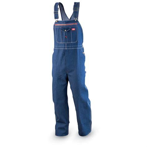 Zipper Overall 32 quot dickies 174 zipper pocket denim bib overalls blue