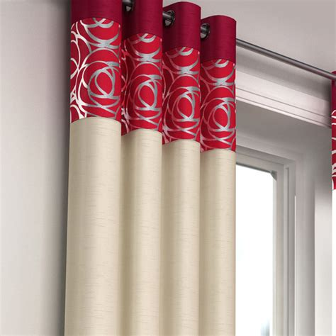 skye curtains skye red faux silk eyelet curtains eyelet curtains