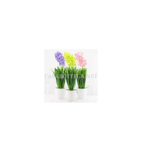 vaso con fiori finti fiori finti giacinto artificiali anturio anturium