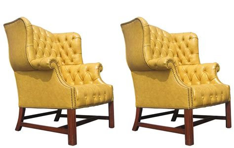 back chair while pair of tufted wingback chairs by drexel at 1stdibs