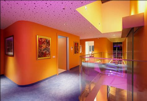 fun house design unique and fun house with colorful lighting effects orange house home building