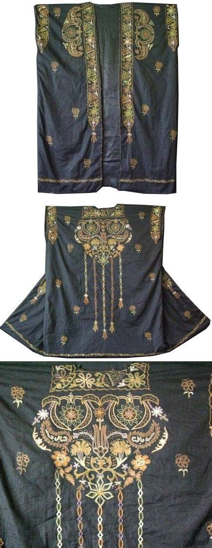 Etnique Syari syria s dress dyed silk and metallic chain