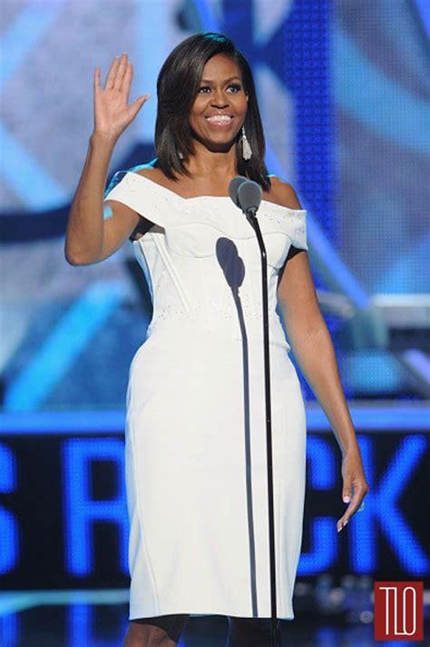 michelle obama zac posen dress michelle obama in zac posen at the black girls rock bet