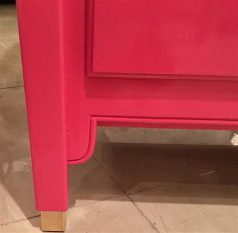 sideboard pink lacquered pink dresser credenza sideboard buffet brass