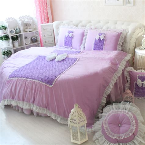 Bed Cover Wedding Import 3 sweet purple coco perfume bottle design