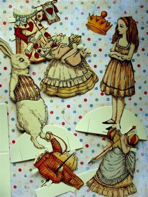 alice in wonderland articulated pap alice paper dolls paper dolls pinterest sagor och