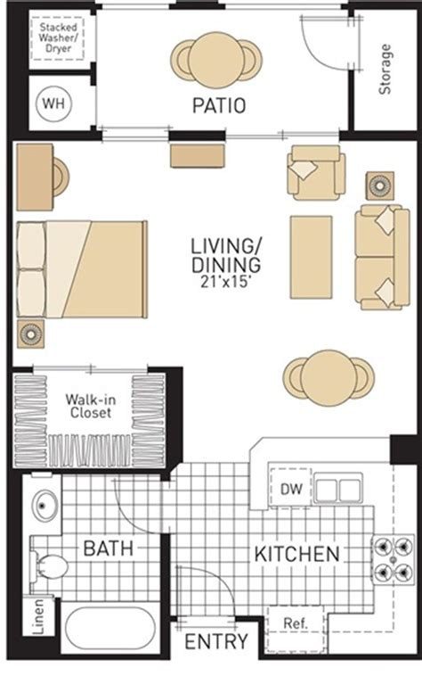 efficiency apartment floor plans best 25 studio apartment plan ideas on pinterest studio