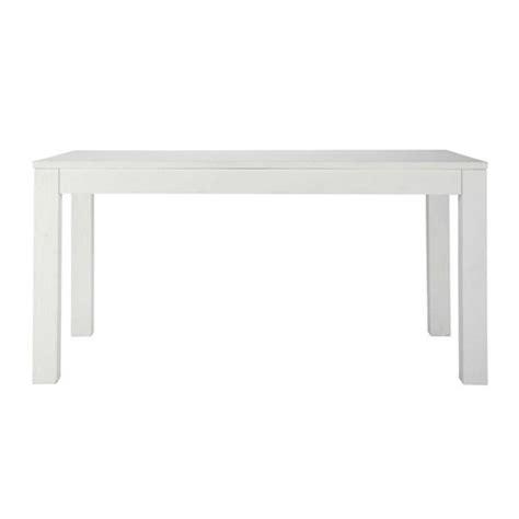 Table Basse Blanche 851 by Table De Salle 224 Manger En Bois Massif Blanche L 160 Cm