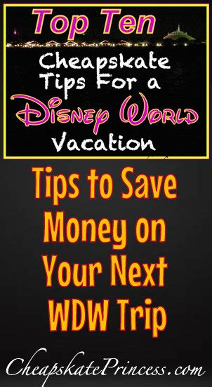 save money on disney world 1st trip to disney world top 10 cheapskate tips to save
