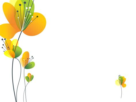 Yellow Spring Flower Ppt Ppt Backgrounds Flowers Green Flower Powerpoint Templates Flowers Green Yellow