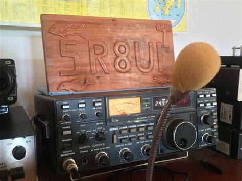 unique wooden plaque hand carved   call sign  madagascar ham plaque wood  hand