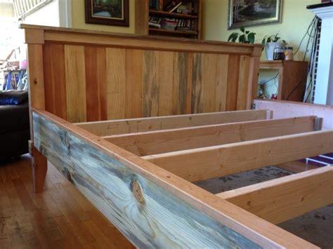 wood king bed scrap wood king bed by xrayguy lumberjocks