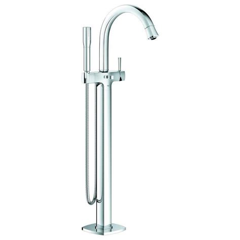 grohe bathtub faucet shop grohe grandera starlight chrome 1 handle freestanding