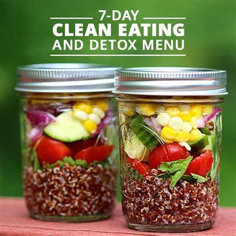 What To Eat On A Detox by 7 Day Clean And Detox Menu Diary Fit