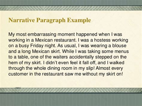 Most Embarrassing Moments Essay by Methods Of Paragraph Development