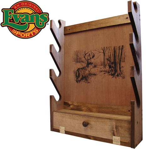 pattern for wall gun rack heartland america wooden 4 gun rack with storage compartment