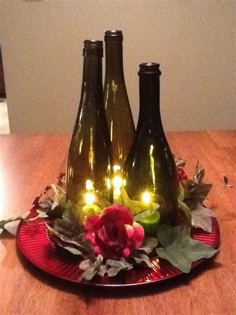 chagne bottle centerpieces best 25 wine bottle centerpieces ideas on