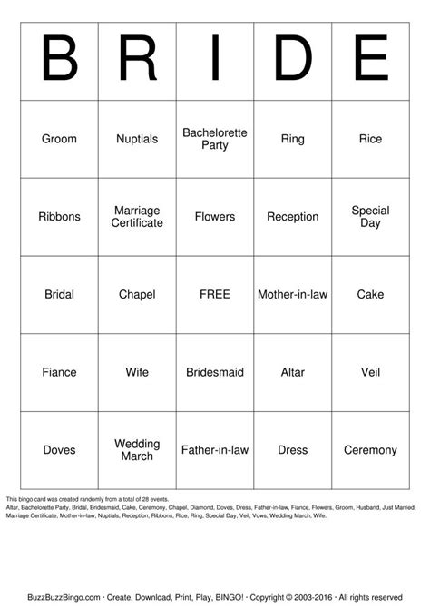 free printable bridal shower game cards 7 best images of free printable bridal bingo cards free