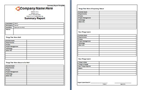 Endoscopy Report Template 8 Rehearsal Report Template Expense Report To