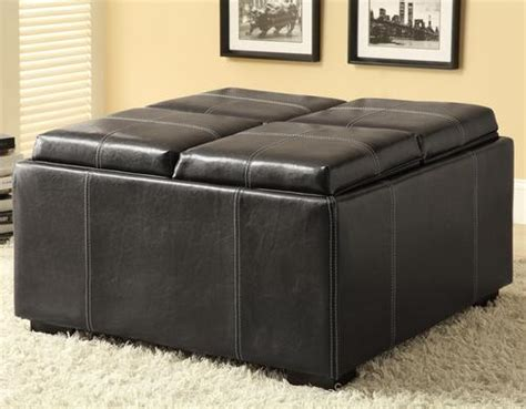 storage ottoman with reversible tray top coaster ottomans storage ottoman with reversible top with