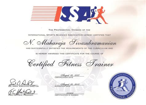 Personal Trainer Certification With Issa by International Sports Sciences Association