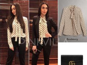Burberry Mba by Yay Or Nay Karisma Kapoor In Anamika Khanna Couture