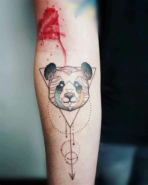 tattoo panda geometric 74 best panda tatto images on pinterest tattoo ideas