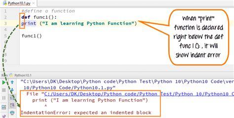 python tutorial def python functions exles call indentation arguments