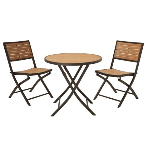 lifetime 3 piece folding patio bistro set 60074u the