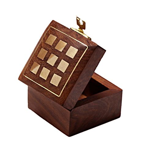 Handcrafted Wooden Jewelry Box - indian artisan handmade handcrafted wooden jewelry box