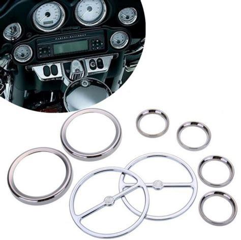 Chrome Speedometer Gauges Bezels Horn Cover For Harley