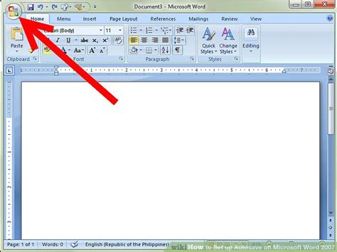 on microsoft word how to set up autosave on microsoft word 2007 14 steps