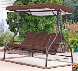 covered 3 person swing hammock outdoor glider new ebay