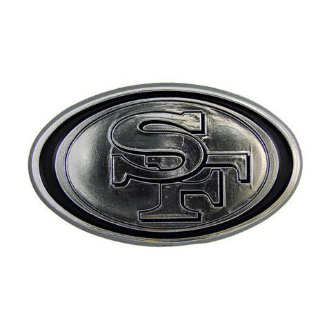 Sticker Cdg Logo Black 2 san francisco 49ers silver auto emblem new car truck nfl