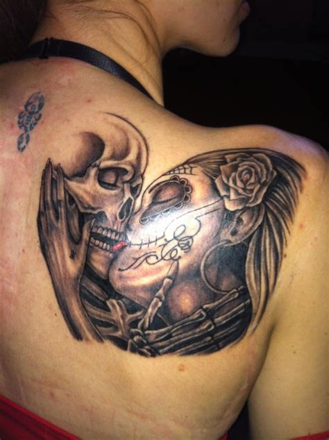 death tattoos designs sugar skull quot till do us part quot tattoos