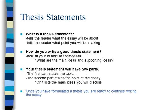 thesis statement about continuing education how to write a thematic essay ppt video online download
