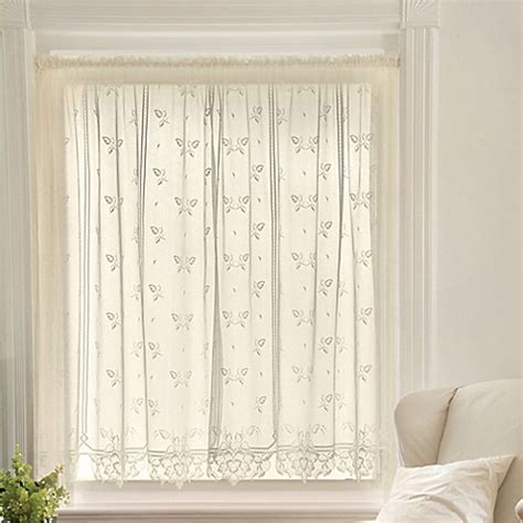 heirloom lace curtains buy heritage lace 174 heirloom 63 inch rod pocket sheer