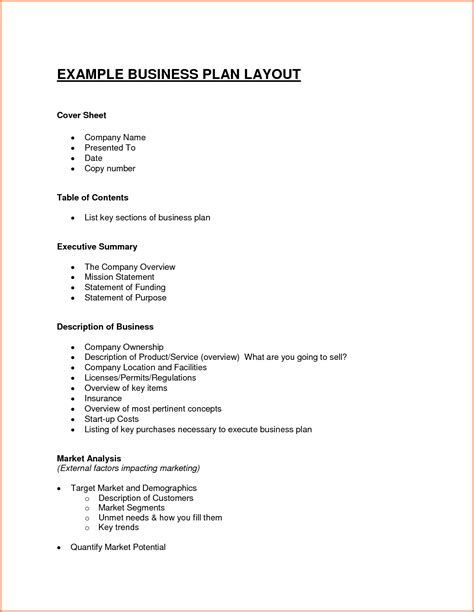 7 Business Plan Proposal Outline Project Proposal Best Free Business Plan Template