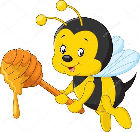 vector imagenes com cartoon bee holding honey stock vector 169 dreamcreation01