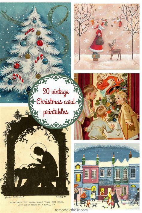 printable christmas vintage remodelaholic 25 free vintage christmas card images day 12