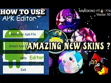 how to use apk editor tutorial how to use apk editor in nebulous amazing costume skins new skins agario