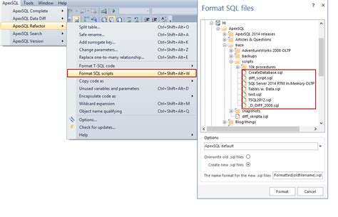 format file in visual studio code sql server how to format and refactor your sql code