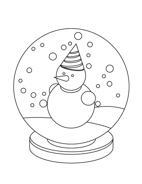 printable snow globe coloring coloring pages