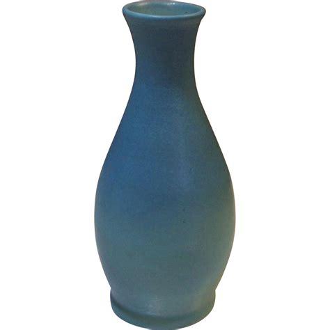 Briggle Pottery Vase briggle pottery original thrown turquoise vase