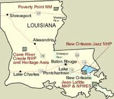 louisiana map capital major cities national parks capital louisiana