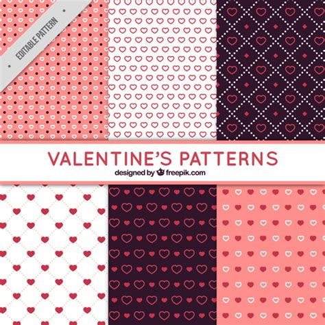 types of pattern fantastic patterns with different types of hearts for