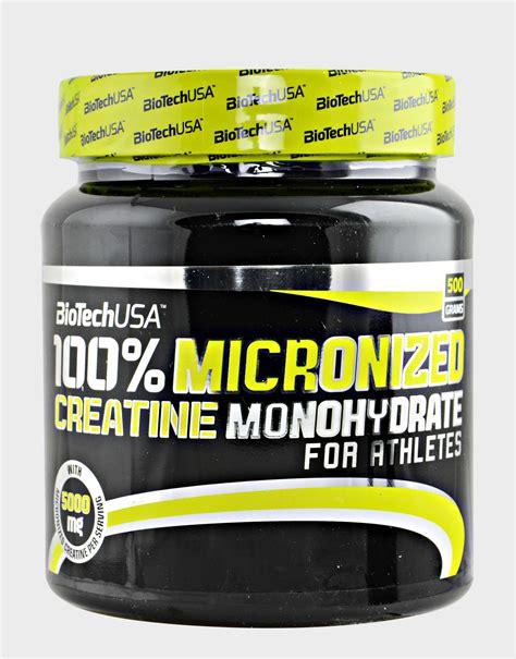 creatina negli alimenti 100 micronized creatine monohydrate di biotech usa 500