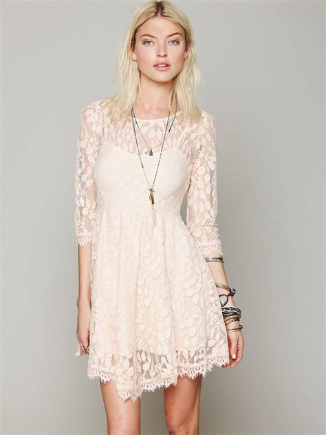 Fashion Freepeople by Free Floral Mesh Lace Dress Lyst