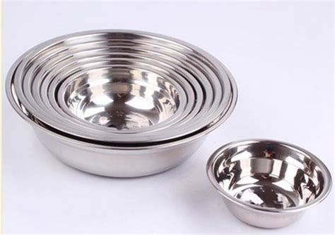 Stainless Bowl Mangkok Stainless 18cm Vavinci Stainless Steel Soup Bowl Metal Non Magnetic Pots Egg Rice Sauce Bowl Fruit Vegetable Basin
